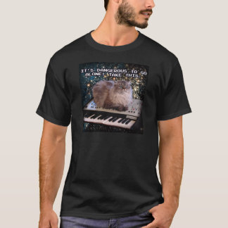 Cat On A Keyboard In Space T-Shirt