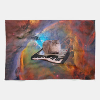 Cat on a Keyboard in Space Towel