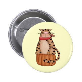 Cat On A Pumpkin 2 Inch Round Button