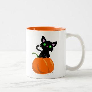 Cat on a Pumpkin Coffee Mug