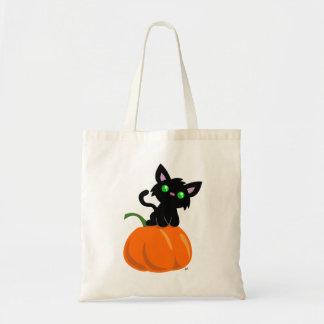 Cat on a Pumpkin Tote Bag