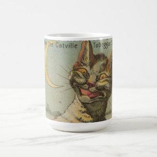 Cat on a Sled Coffee Mug