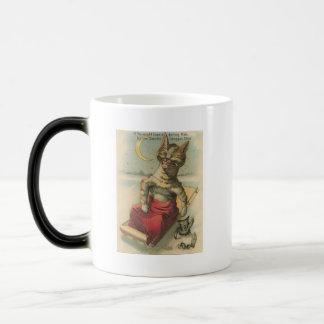 Cat on a Sled Magic Mug