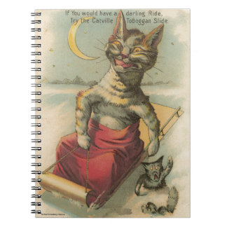 Cat on a Sled Notebook