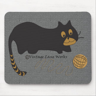 Cat on a String Mouse Pad