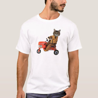 Cat On A Tractor T-Shirt