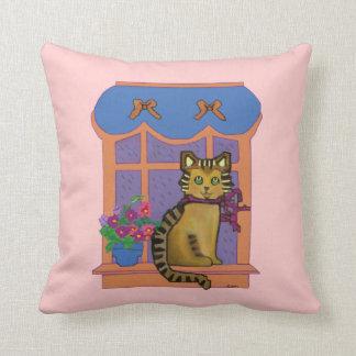 Cat on a Windowsill American Mojo Pillow