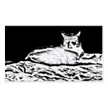 Cat on bed business card