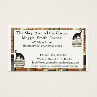 Cat on Books Business card