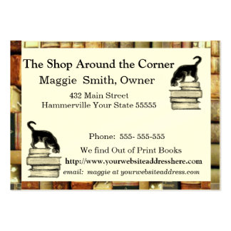 Cat on Books Business card - Chubbie sized