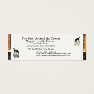 Cat on Books Business card - Skinny