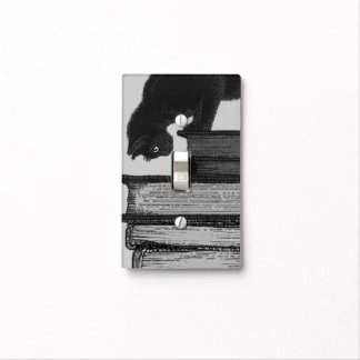 Cat on books - Lightswitch Cover