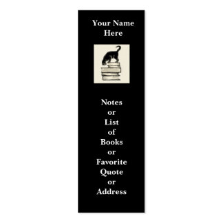 Cat on Books Mini Bookmark to Customize Double-Sided Mini Business Cards (Pack Of 20)