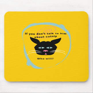 cat on catnip-talk funny customize colors mouse pads