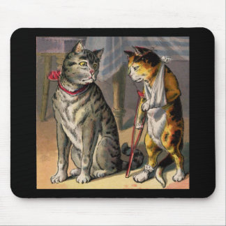Cat on Crutches Mouse Pad