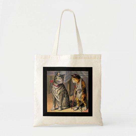 Cat on Crutches Tote Bag