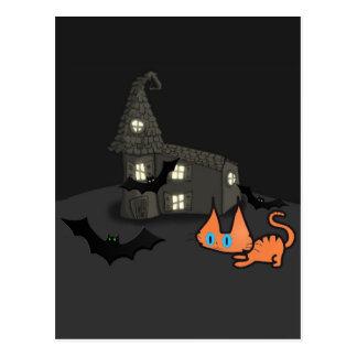 Cat On Halloween Postcards