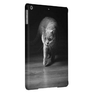 cat on hunt iPad air cases
