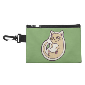 Cat On Its Back Cute White Belly Drawing Design Accessory Bag
