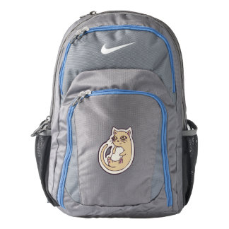 Cat On Its Back Cute White Belly Drawing Design Backpack