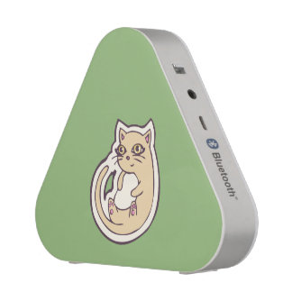 Cat On Its Back Cute White Belly Drawing Design Bluetooth Speaker