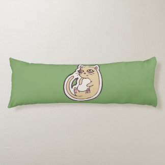 Cat On Its Back Cute White Belly Drawing Design Body Pillow