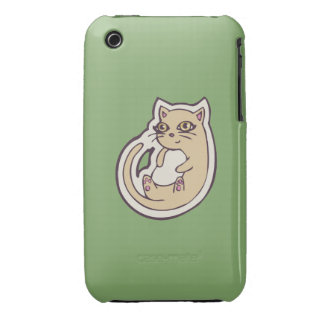 Cat On Its Back Cute White Belly Drawing Design iPhone 3 Case-Mate Case