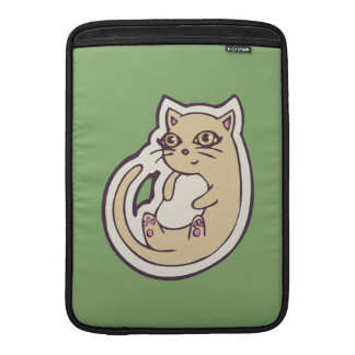 Cat On Its Back Cute White Belly Drawing Design MacBook Air Sleeves