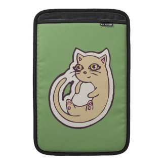 Cat On Its Back Cute White Belly Drawing Design Sleeves For MacBook Air