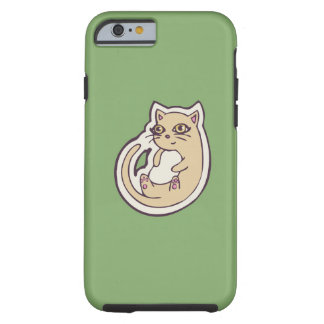 Cat On Its Back Cute White Belly Drawing Design Tough iPhone 6 Case
