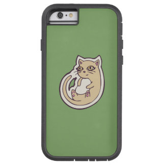 Cat On Its Back Cute White Belly Drawing Design Tough Xtreme iPhone 6 Case