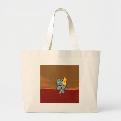 Cat On Mars Canvas Bag