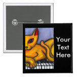 Cat on Piano Keyboard Button