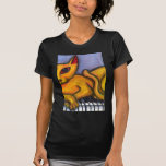 Cat On Piano T-shirt