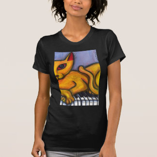 Cat On Piano T-Shirt