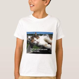 Cat On Picnic Table T-Shirt
