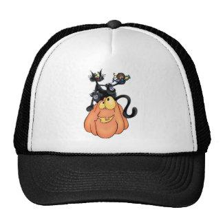 Cat on Pumpkin Trucker Hat