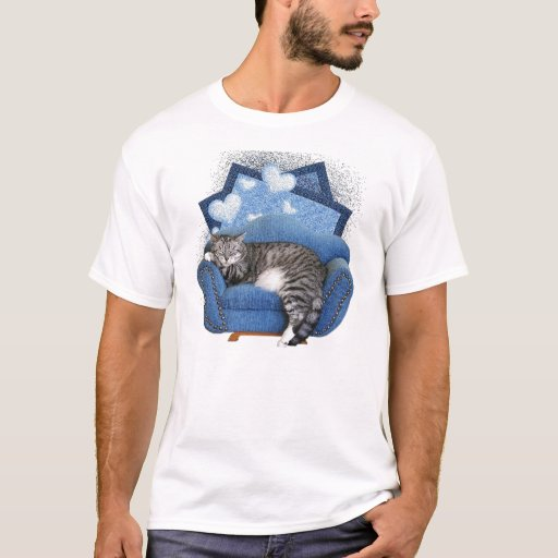 cat on sofa T-shirt