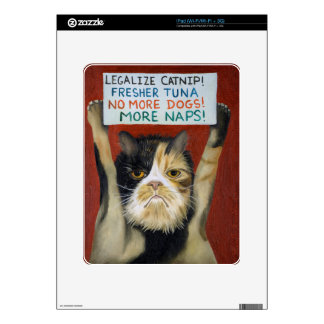 Cat On Strike Skins For iPad