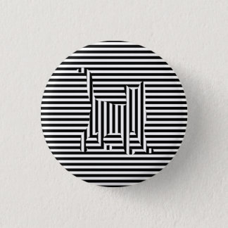 Cat on Stripes Button