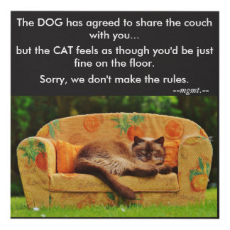 Cat on the Couch Wall Plaque Panel Wall Art
