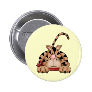 Cat On The Hunt Pinback Buttons