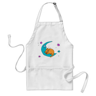 Cat On the Moon Adult Apron