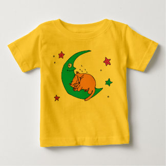 Cat On the Moon Baby T-Shirt