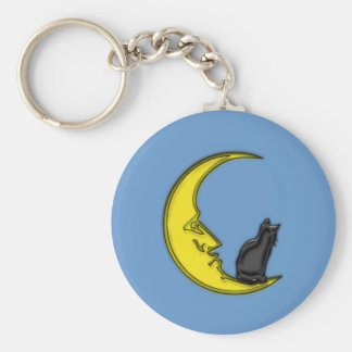 CAT ON THE MOON KEYCHAIN