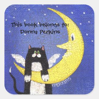 Cat on the Moon Sticker