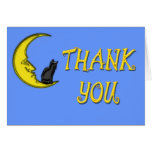 CAT ON THE MOON THANK YOU CARDS