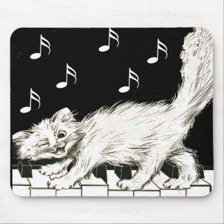 Cat on the Piano Keys Mouse Pads