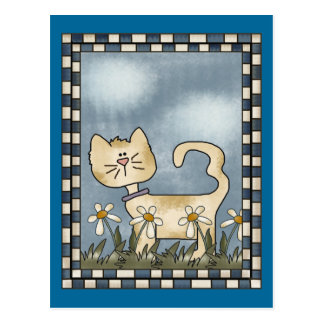 Cat On The Prowl Postcard