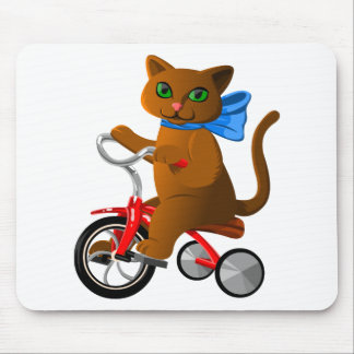 Cat on Tricycle Mouse Pad